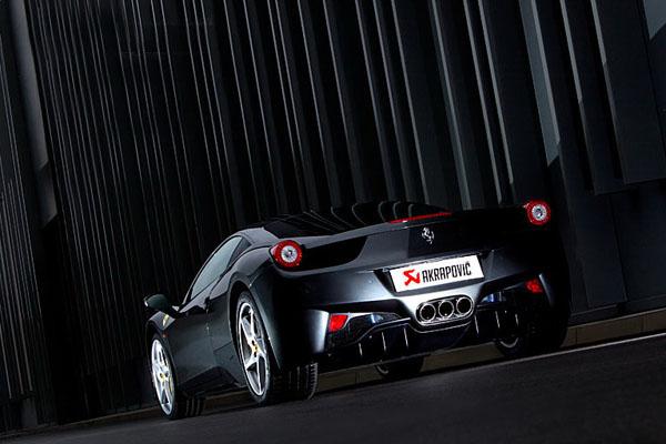 强劲有力 法拉利458改装AKRAPOVIC排气系统
